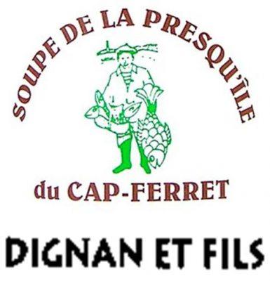 Logo conserverie Dignan - cap Ferret - Nouvelle Aquitaine - France - Nouvelle Vague épicerie de la pêche à Bordeaux