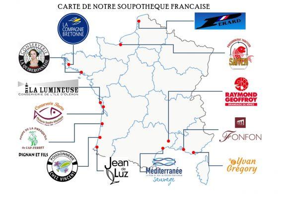 Carte de France soupothèque