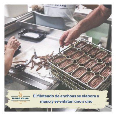 Emboitage des anchois - Pujado Solano - Nouvelle Vague - Epicerie de la pêche à Bordeaux