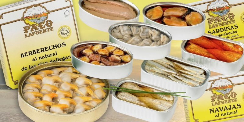 Gamme des conserves - Paco Lafuente - Nouvelle Vague l'épicerie de la pêche à Bordeaux